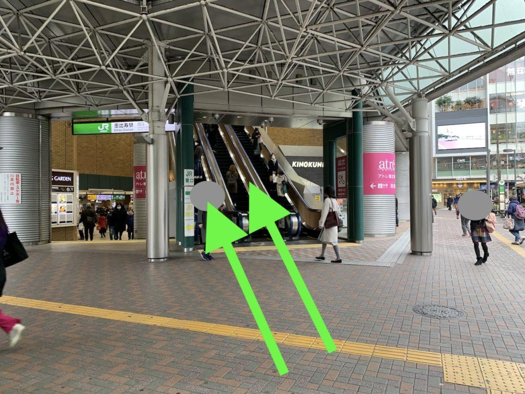 恵比寿 ゴルフガッツ JE恵比寿駅西口からの道案内